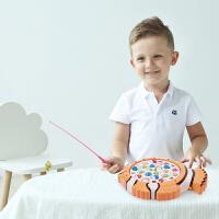 宝宝益智儿童磁性电动钓鱼玩具池套装0-1-2-3-4-5周6岁小孩男女孩