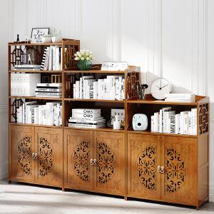 幽咸家居 中式落地书柜书架现代简约儿童置物架楠竹架办公室收纳架
