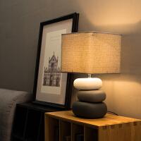 台灯卧室床头灯温馨浪漫客厅陶瓷简约现代创意床头灯护眼