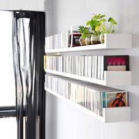 墙上置物架书架书柜收纳吊柜 置物架客厅装饰转角卧室壁挂书架墙壁搁板木板