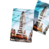 时间沙漏明信片30张唯美城市风景明信片都市建筑纪念卡片生日贺卡