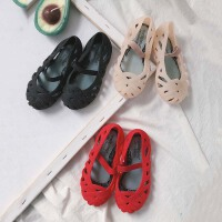 儿童女童果冻鞋公主鸟巢鞋宝宝舒适软底塑料防滑防水凉鞋沙滩鞋潮