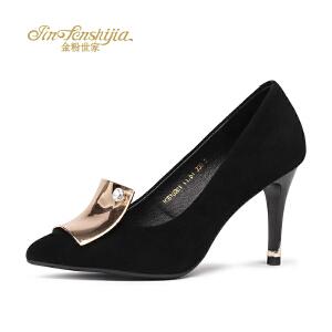 红蜻蜓旗下品牌金粉世家女鞋秋冬休闲鞋鞋子女高跟鞋JGB7020