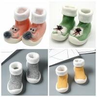 婴儿鞋袜加厚毛圈保暖袜子软底防滑学步鞋袜地板袜宝宝袜子