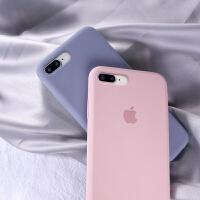 苹果8plus手机壳7plus新款西柚色液态硅胶iphone7全包防摔8p男女7p超薄网红6s纯色8超薄磨砂软6spl