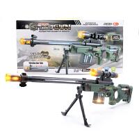 仿真电动玩具枪声光震动投影枪狙击枪全军吃鸡儿童玩具左轮手枪