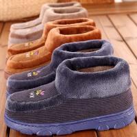 冬季加厚底棉拖鞋保暖居家用室内男女士老人家居鞋冬天防滑全包跟