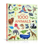 【发顺丰】英文进口原版 Usborne 1000 Animals 动物世界科普大开本 儿童启蒙单词认知精装书