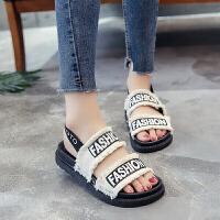 凉鞋女夏季新款厚底沙滩鞋两穿平底平跟韩版大码休闲学生女鞋