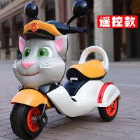 儿童电动三轮车摩托车宝宝电动小孩玩具车可坐人男孩充电遥控三轮车大号 遥控充气轮胎款-黄色-智能早教 -双驱动-大电瓶+