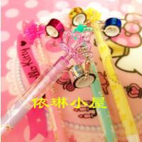 皇冠可爱挂件自动铅笔带吊坠自动笔0.5小学生文具儿童写字笔