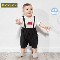 巴拉巴拉婴儿衣服新生儿连体衣初生宝宝爬爬服哈衣周岁纯棉男女童