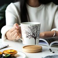圣诞陶瓷杯子马克杯创意个性潮流家用情侣水杯办公室咖啡杯