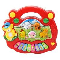 特价动物农场音乐琴宝宝早教儿童玩具电子琴婴幼儿女孩益智音乐琴 红色(送3节电池)