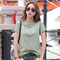 夏季新品时尚纯棉修身韩版女士t恤上衣夏季短袖棉t恤衫