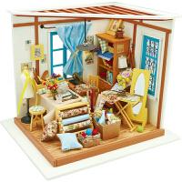 3d立体拼图若态艺术屋木质模型女孩玩具屋少女房子手工制作DIY小屋儿童益智若态101