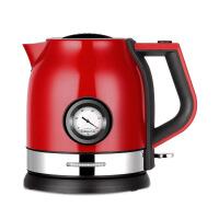 小浣熊电热烧水壶304不锈钢大容量家用快壶自动断电煮茶壶烧水器