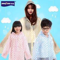 男女童长款风衣式宝宝雨披圆点雨衣户外徒步儿童雨衣