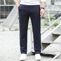 JEEP吉普运动长裤男春秋单款针织卫裤户外运动健身休闲长裤子居家直筒裤