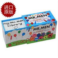 英文原版 奇先生 Mr Men 50-copy Complete Set 50册 全集儿童绘本故事 低幼 彩色印刷