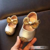 春秋女童皮鞋小童公主儿童鞋女宝宝单鞋0-1-2周岁婴儿软底学步鞋