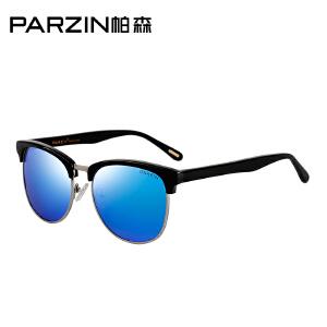 帕森新款潮流太阳镜复古半框男女偏光镜情侣开车驾驶墨镜9628
