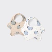 婴儿口水巾围兜围嘴360度旋转婴儿棉饭兜宝宝口水巾围兜
