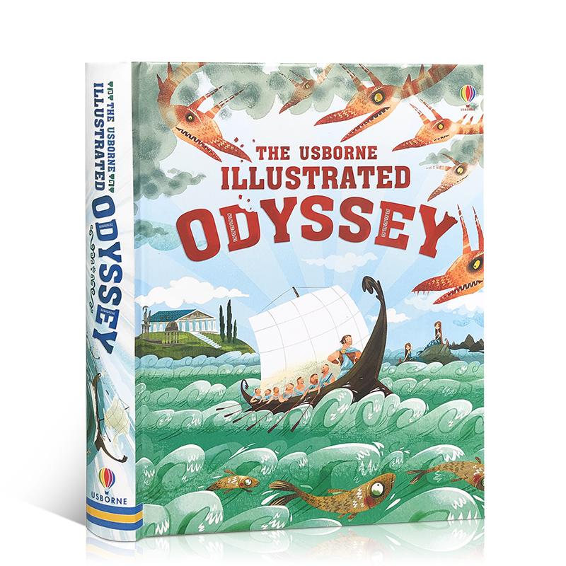 顺丰发货 英文原版 The Usborne Illustrated Odyssey 经典儿童文学系列:奥德赛 全彩插图版 精装 原文无删减
