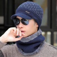 男士帽子冬天加绒保暖针织套头帽冬季青年围脖套帽加厚包头毛线帽
