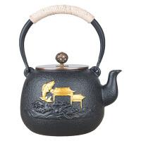 老铁壶铸铁泡茶烧水壶煮茶器电陶炉茶炉功夫茶具套装铸铁铁壶纯手工无涂层茶壶功夫茶具烧水煮茶