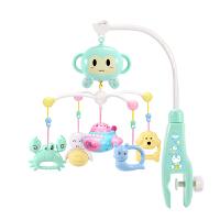 旋转音乐床铃 婴儿床铃音乐旋转脚蹬3-6-12个月挂件新生玩具女宝宝床头摇铃男孩 动物809内容投影遥控飞机充电版 送