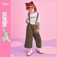【4折�A估�r:74.8元】迪士尼女童�粜窘q背�а�春秋新款童�b洋�饧�棉�腿��和������子