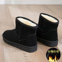 雪地靴女中筒靴2018秋冬新款雪地棉鞋女鞋保暖滑冬靴加厚女