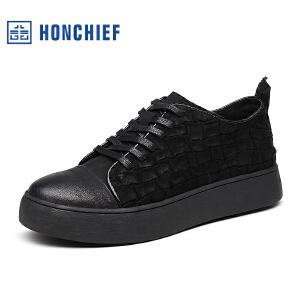 红蜻蜓旗下品牌  HONCHIEF  男鞋休闲鞋秋冬鞋子男板鞋KTA7273