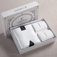 酒店浴巾大毛巾礼盒装1浴+2面 雪山白礼盒套装