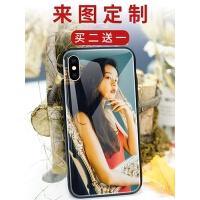 定制手机壳任意机型8x苹果6s6DIY7plus照片玻璃r9s来图oppor11s女