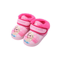 儿童公主冬季包跟厚底保暖棉拖鞋4-8岁