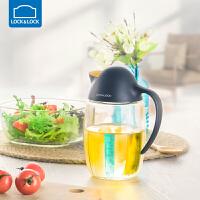 乐扣乐扣企鹅油壶玻璃防漏倒油瓶家用厨房大容量大号自动开合透明 620ml