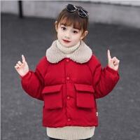 棉衣儿童羽绒女童小女孩宝宝秋冬装加厚保暖短款外套