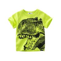 男童半袖纯棉宝宝夏季童装儿童短袖T恤恐龙