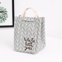 手提包拎饭盒包袋保温帆布便当包大号码学生午餐盒包防水
