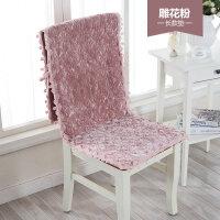 欧式简约餐桌椅垫套装办公室椅子连体垫一体连体椅垫坐垫靠垫k