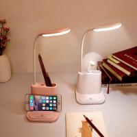 笔筒风扇LED台灯护眼书桌可充电小学生宿舍床上儿童写字学习台灯