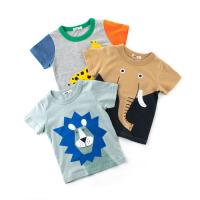 童�b男童夏季����短袖T恤�棉�游镏行⊥�半袖上衣