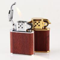 充气打火机 金属老式砂轮明火打火机