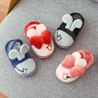 儿童棉拖鞋包跟女童男童保暖防滑家居宝宝亲子棉鞋
