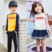 男童长袖T恤春装儿童女宝宝打底衫小童秋衣婴儿上衣