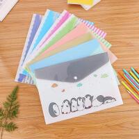 可爱卡通文件袋文件夹韩版便携资料袋A4塑料手提学生小档案袋资料袋
