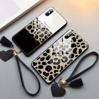豹纹苹果x手机壳女iphone个性xs创意max新款7plus玻璃xr全包6s潮牌7p/8p网红xmax防摔iphone
