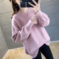 安妮纯毛衣女2020新款女装韩版春装时尚冬加厚套头宽松毛针织衫春秋潮